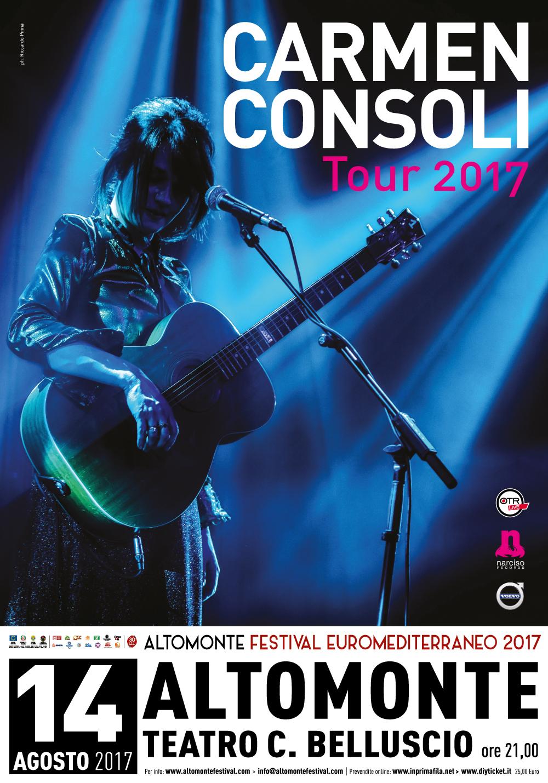 <strong>CARMEN CONSOLI</strong> | 14 agosto 2017 | Teatro Belluscio ore 21.00