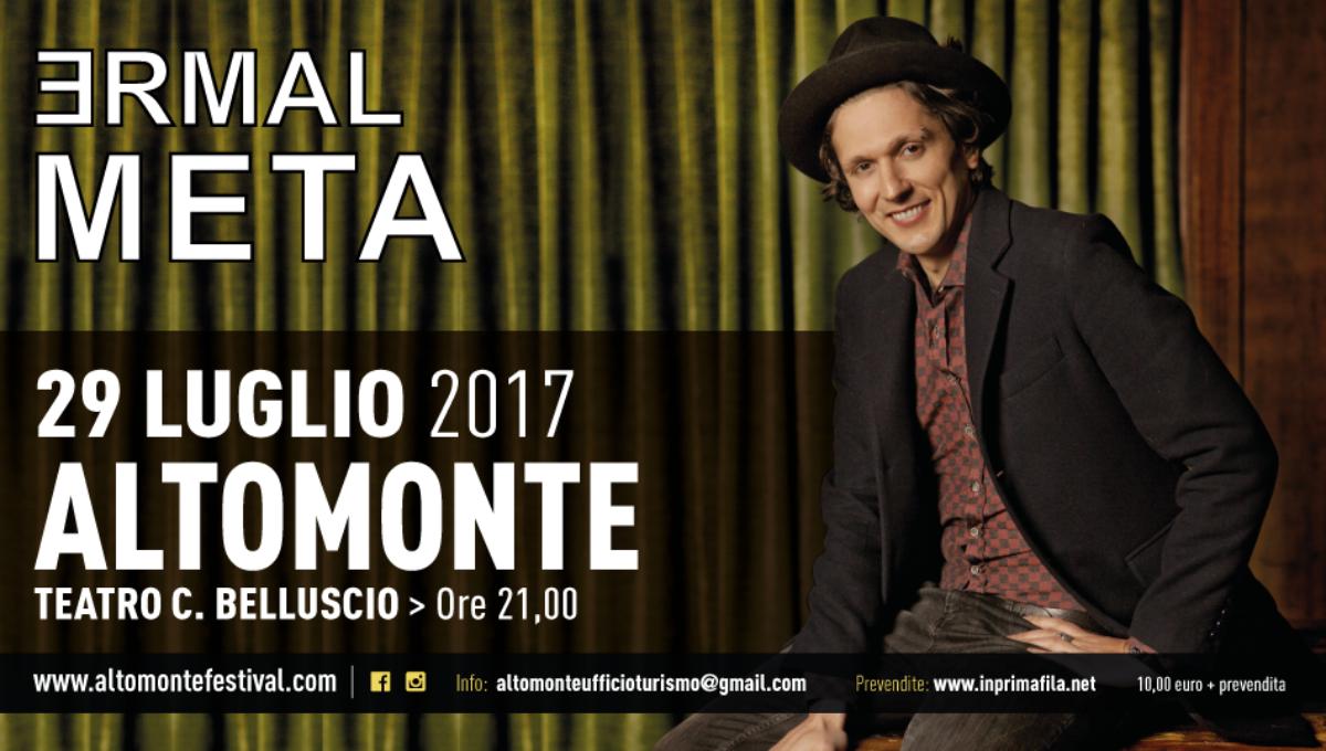 <strong>ERMAL META</strong> | 29 luglio 2017 | Teatro C. Belluscio ore 21.00